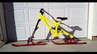 homemade ski/snow  bike build