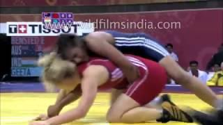 Dangal - last scene fight - Geeta Phogat real match - common wealth games