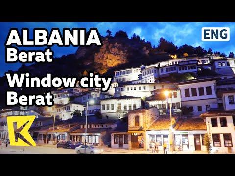 【K】Albania Travel Berat 알바니아 여행 베라트 천개의 � 문을 가진 베라트 Window Unesco Muslim Berat Castle Night view