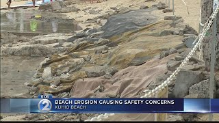 Severe erosion sparks safety concerns, unusual prevention measures along Waikiki beach
