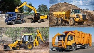 Construction Trucks for Children - Learning Construction Vehicles Names for Kids - Excavators Crane