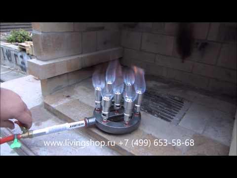 Печка под газовую горелку своими руками