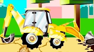 Excavator | Pipo and his tow truck | Cartoon for children like Minecraft