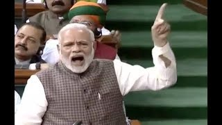 FULL SPEECH : Narendra Modi Speech In Lok Sabha Today...Blames Congress Party...India..