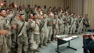 Marines singing