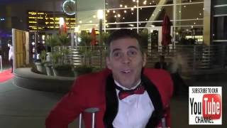 Steve-O talks about Donald Trump & Hillary Clinton and it is FUNNY outside ArcLight Theatre in Holly