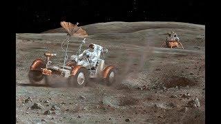 """Apollo 16 Lunar Rover """"Grand Prix"""" [RESTORED][STABILIZED][60fps]"""