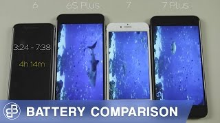 iPhone 7 vs iPhone 6S Plus vs iPhone 7 Plus vs iPhone 6: Battery Life Comparison/Battery Test