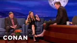 Shailene Woodley Clasps Feet With Conan