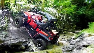Polaris RZR XPs + Can-Am Commanders : Extreme Technical Trail Riding