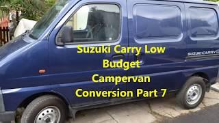 Suzuki Carry Low Budget Campervan Conversion Part 7