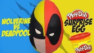 Superhero Battle Play-doh Surprise Egg ft. Deadpool vs Wolverine Toys & Marvel Toys by KidCity