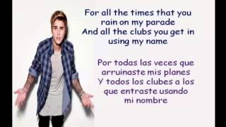Love Yourself Lyrics español+ingles