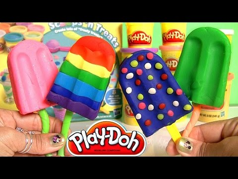 Play Doh Popsicles Scoops 'n Treats DIY Ice Cream Ultimate Rainbow Popsicle Paleta Ghiacciolo