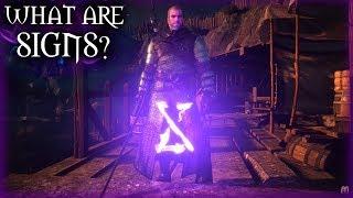 Witcher 3 - What Are Signs? - Witcher Lore & Mythology