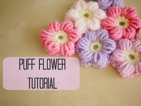 CROCHET How to crochet a puff flower Bella Coco