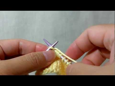 How to knit S2K1P2sso (Slip 2, K1, Pass 2 slipped stitches over) - Double Decrease
