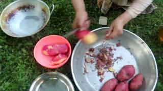 Cooking Delicious Potato Chips in Our Village - Chalt,  Nagar Valley - Gilgit Baltistan - Pakistan