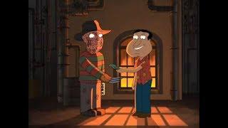 Quagmire le paga a Freddy Krueger para que le cuente un chiste a Peter - Padre de Familia