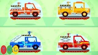 Xe Cứu Hỏa và Khủng Long con - Fire Truck & Dinosaur for Kids | TopKidsGames