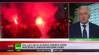 Labour Law Fury: Rallies held across France over Macron