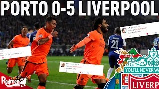 Porto v Liverpool 0-5 | Liverpool Fan Twitter Reactions