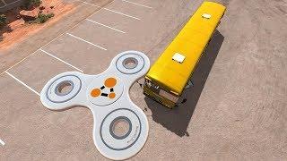 Giant Fidget Spinner Destroying Vehicles #1   BeamNG Drive