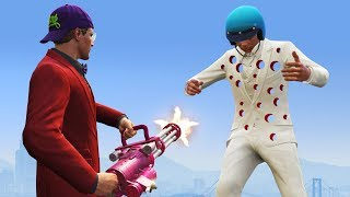 DODGE THE 1000 BULLETS CHALLENGE! (GTA 5 Funny Moments)