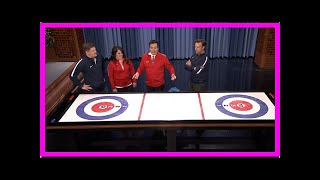 TODAY NEWS - Jimmy fallon plays bar curling with the US olympic team (video)