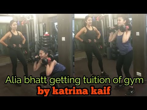 ALIA BHATT GETTING TUITION OF GYM BY KATRINA KAIF | SUNDAY BIG BOOTI....!