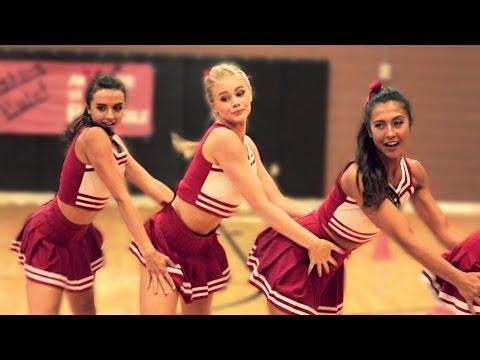 watch HIGH SCHOOL DANCE BATTLE - CHEERLEADERS VS BALLERS! // @ScottDW