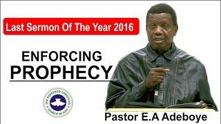 Pastor E.A Adeboye Last Sermon 2016 @ RCCG 2016 CROSSOVER NIGHT SERVICE