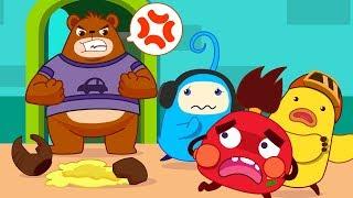 Colored Monsters Break Mr. Bear