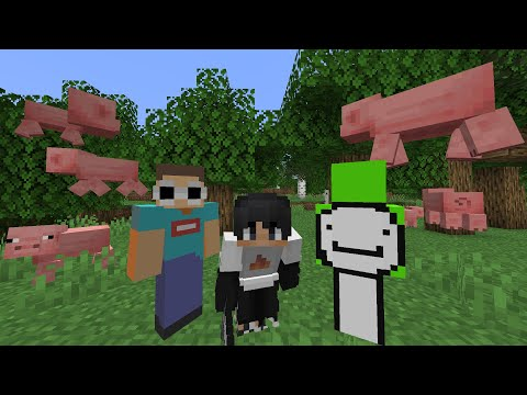 Minecraft But Every Mob Looks Like A Pig