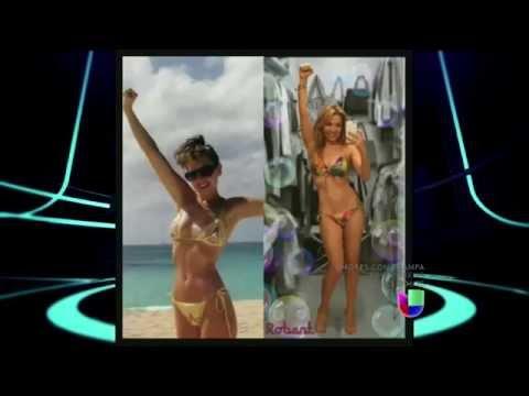Thalia presume cuerpazo en diminuto bikini El Gordo Y La Flaca 27.03.2015