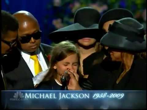 جنازه مايكل جاكسون باريس ابنه مايكل جاكسون تنعيه