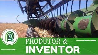 Produtor cria colheitadeira inovadora de feijão