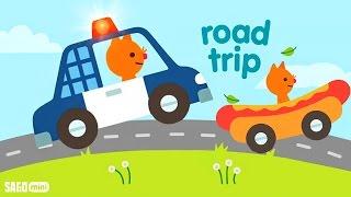 Car Factory Dream Cars Factory - NEW Kids Garage Police Car - Sago Mini Road Trip: CAR WASH