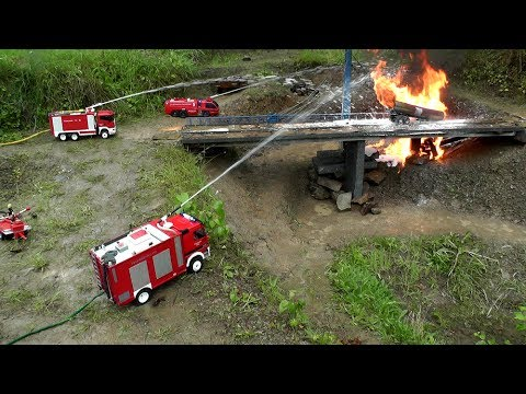 RC HORRIBLE ACCIDENT RC TANK TRUCK ON FIRE