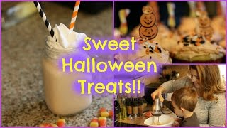 MAKING HALLOWEEN TREATS WITH TODDLER!!