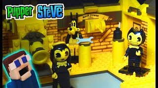 Bendy and the Ink Machine Power Switch Room Playset UNBOXING Construction Set BATIM Mcfarlane Toys