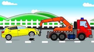 Auto Tow Truck and Car Factory | Auto Bajki i Animacja