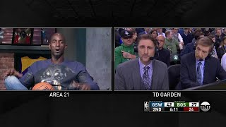Area 21: Kevin Garnett joins the in-game broadcast to talk Celtics | Inside the NBA | NBA on TNT