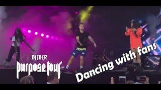 JUSTIN BIEBER DANCING WITH FANS IN AARHUS (Children Purpose Tour)
