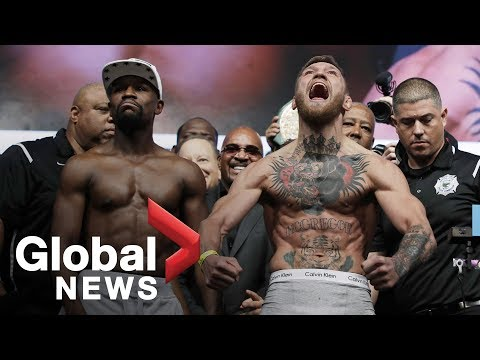 Xxx Mp4 Floyd Mayweather Vs Conor McGregor Weigh In Before Superfight 3gp Sex