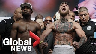 Floyd Mayweather vs. Conor McGregor weigh-in before superfight
