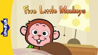Five Little Monkeys Jumping On The Bed | Nursery Rhymes | By Little Fox