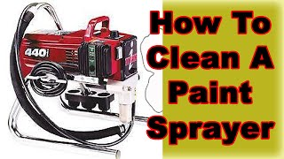 How To Properly Clean or Repair A Paint Sprayer.  Titan Spray Painting.