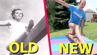 Trying OLD Olympic Gymnastics Skills!