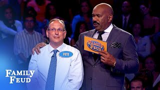 Going out with a BANG! Pete and Joyce CRUSH Fast Money!   Family Feud